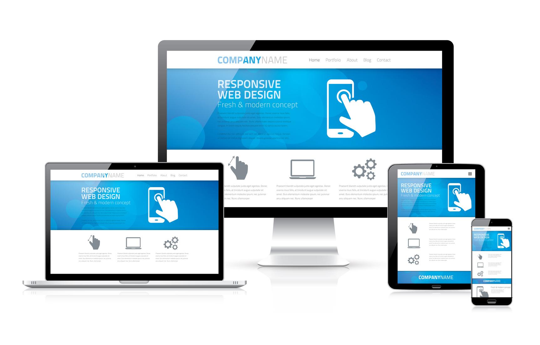 Moderne Webseiten durch Responsive Webdesign auch für mobile Geräte